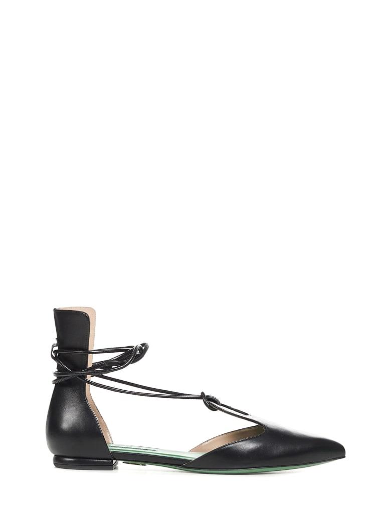 Sara Battaglia First Date Ballet Shoes - Black