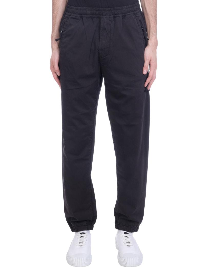 Stone Island Pants In Black Cotton - black