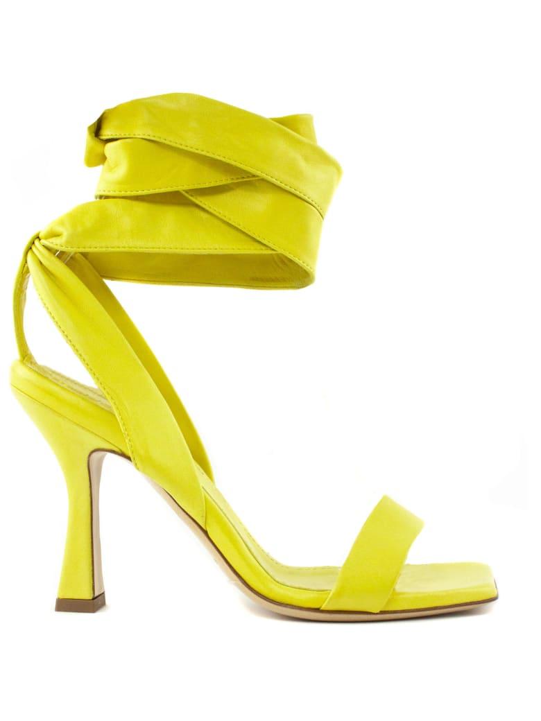 Aldo Castagna Giuliana Yellow Leather Sandal - Giallo