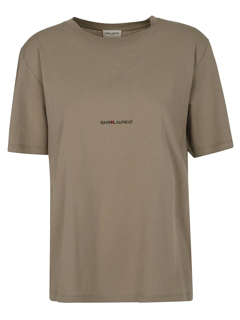 Saint Laurent Round Neck T-shirt - Brown