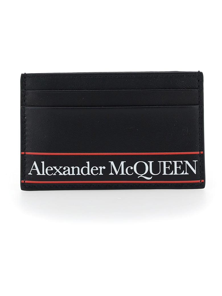 Alexander McQueen Card Holder - Black/red