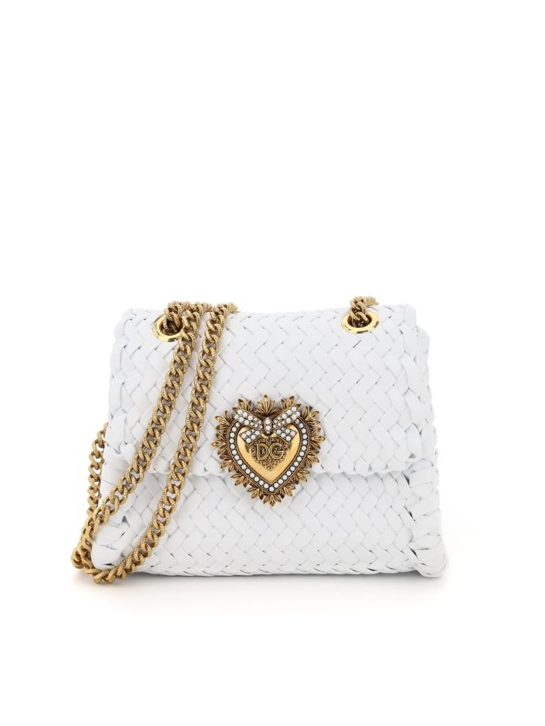 Dolce & Gabbana Devotion Chevron Woven Bag - Bianco