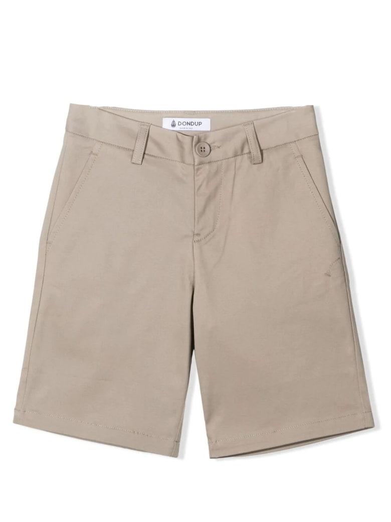 Dondup Beige Cotton Chino Shorts - Fango
