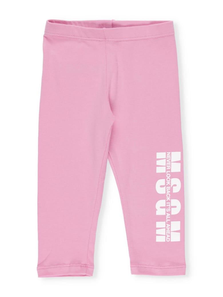 MSGM Leggings Jersey Stretch - Pink