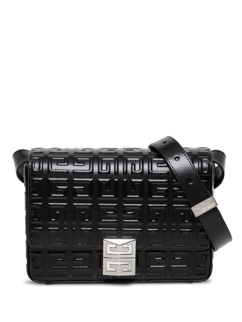 Givenchy Crossbody Bag In 4g Black Leather - Black