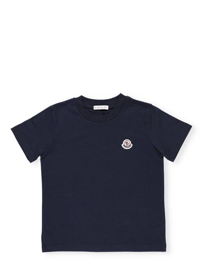 Moncler Cotton T-shirt - NAVY