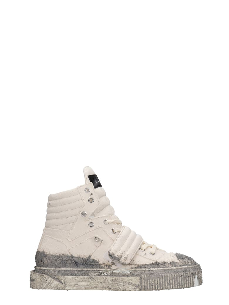 Gienchi Hypnos Sneakers In Beige Canvas - beige