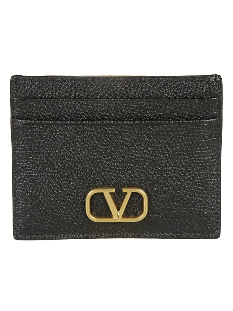 Valentino Garavani Logo Card Holder - Black