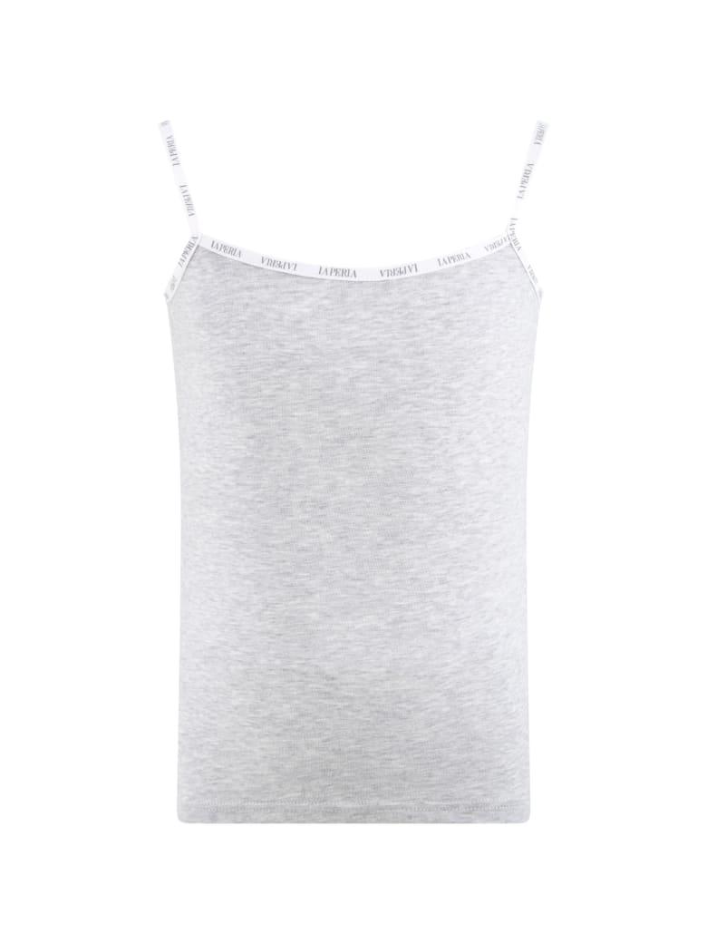 La Perla Grey Tank Top For Girl - Grey