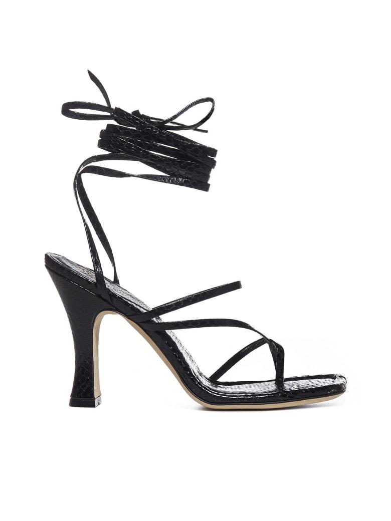 Paris Texas Mirta Animalier-effect Leather Sandals - Nero