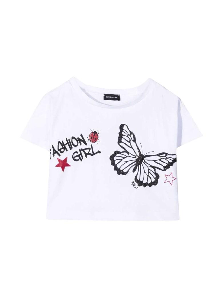Monnalisa White T-shirt - Bianco