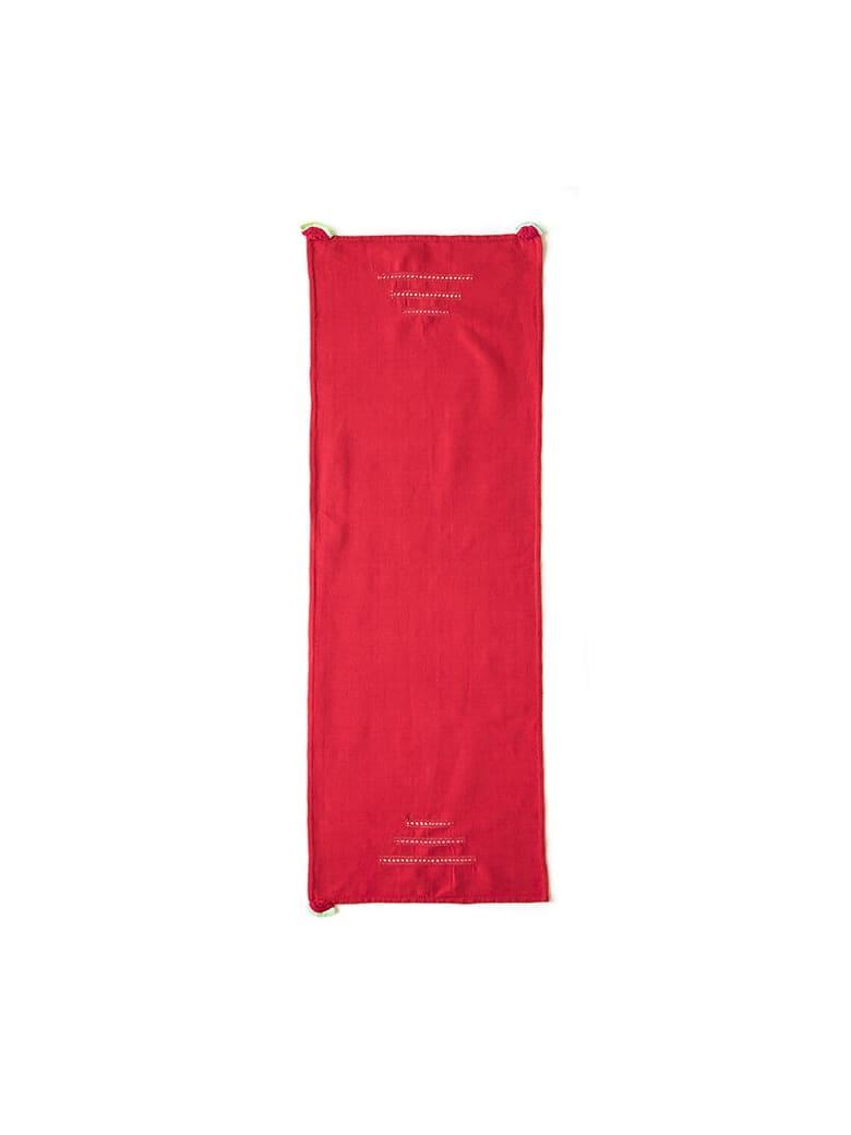 Le Botteghe su Gologone Runner Crochet 130x50 Cm - Red