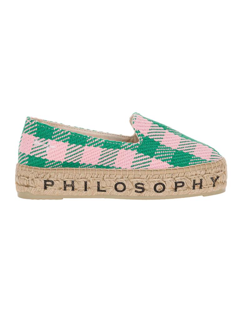 Philosophy x Manebí Philosophy X Manebi Logo Espadrilles - GREEN PINK