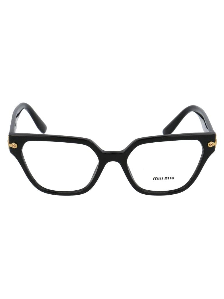 Miu Miu 0mu 02tv Glasses - 1AB1O1 BLACK