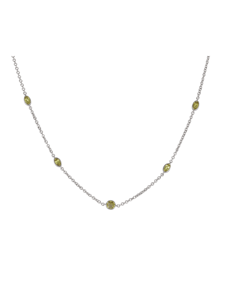 Lo Spazio Jewelry Lo Spazio Yellow Sapphire and Diamond Necklace - Yellow