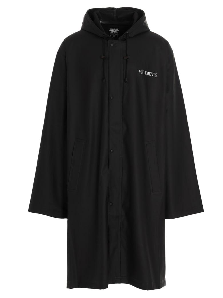 VETEMENTS 'fashion Is My Profession' Coat - Black