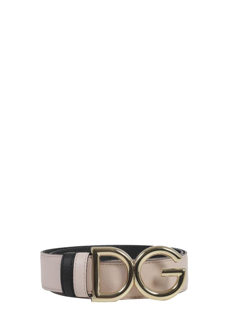 Dolce & Gabbana Pink Logo Belt - Pink