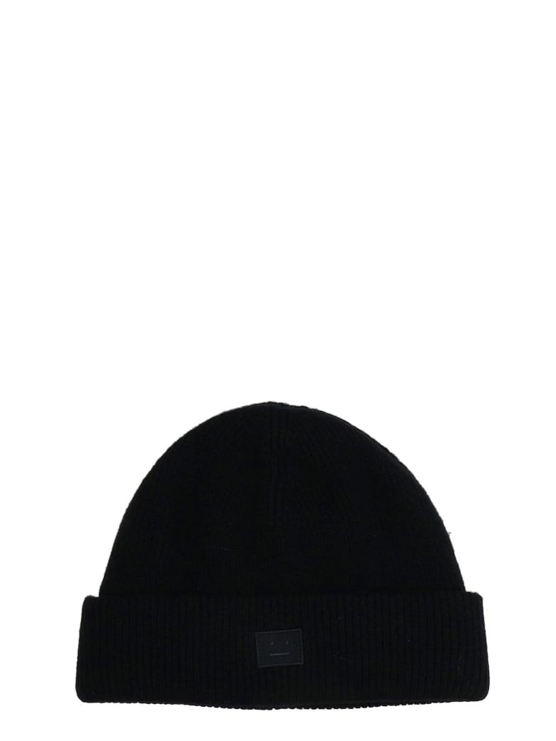 Acne Studios Hats In Black Wool - black