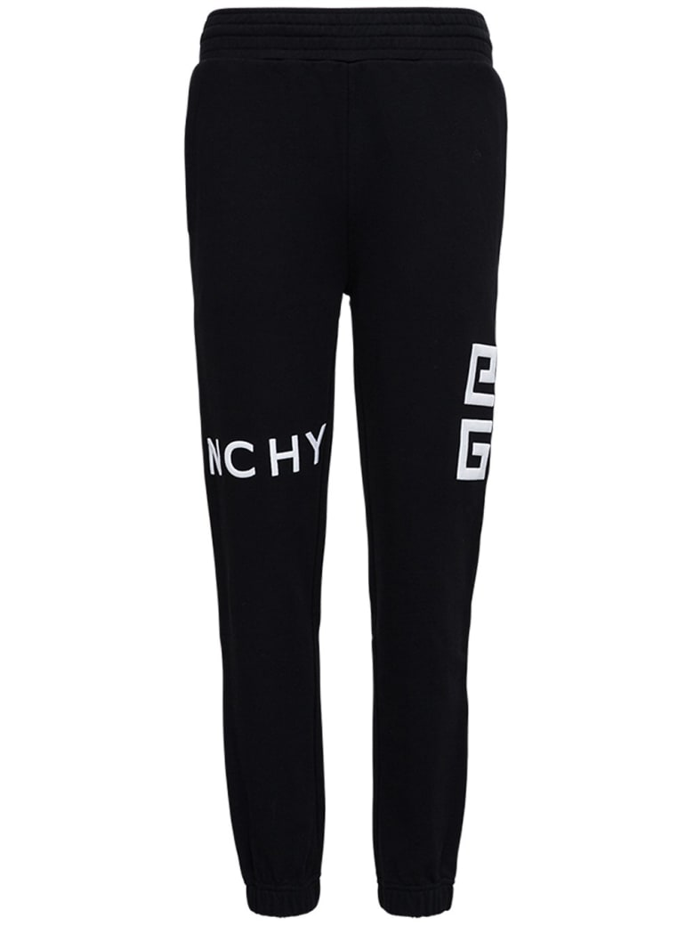 Givenchy Jersey Balck Jogger With Logo - Black