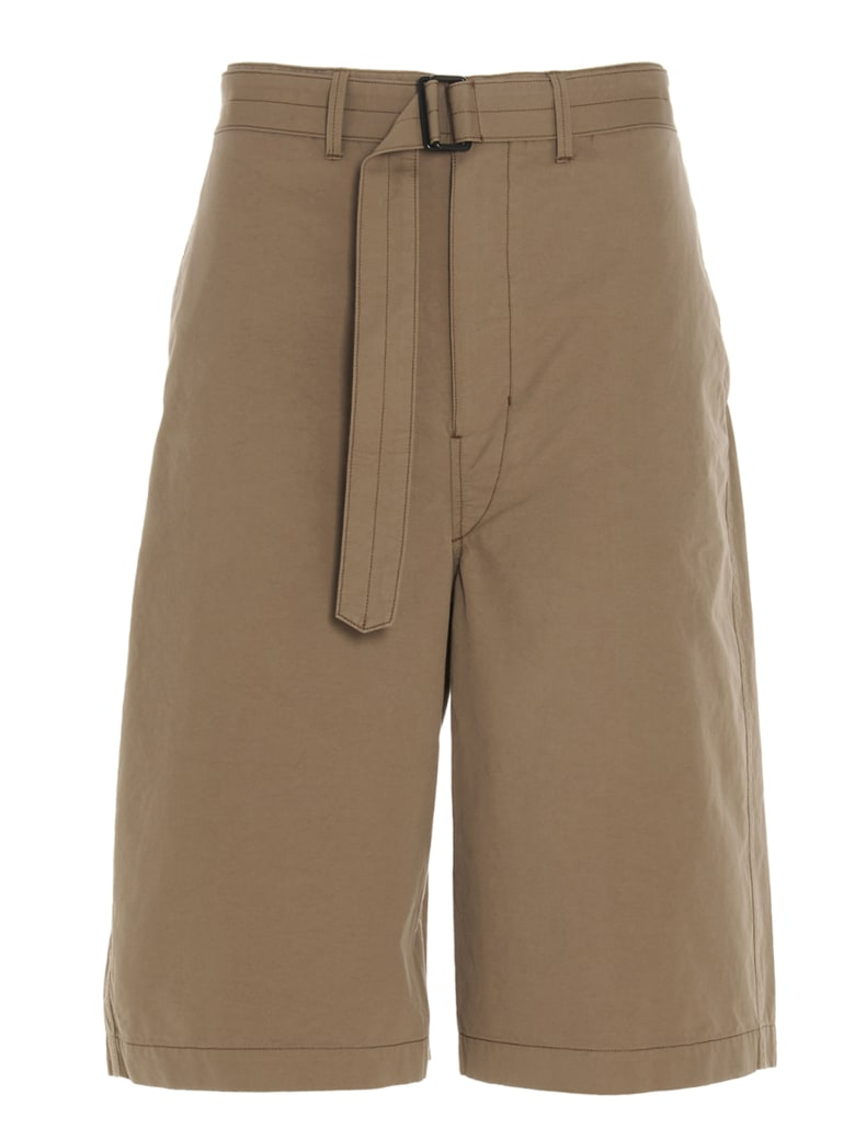 Lemaire 'belted Shorts' Bermuda - Beige