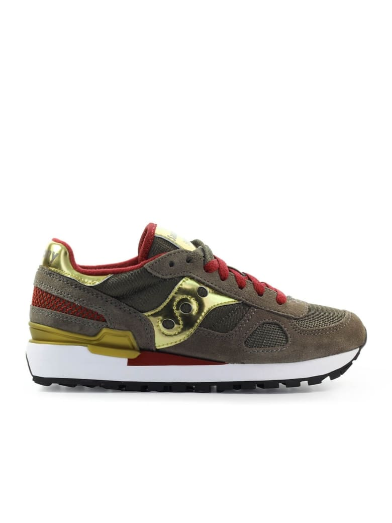 Saucony Shadow Original Brown Gold Sneaker - Oro/Marrone