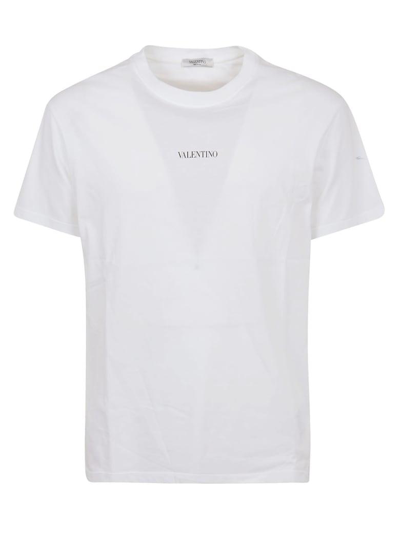 Valentino T-shirt Jersey,regular,print Vltn - Bianco Nero