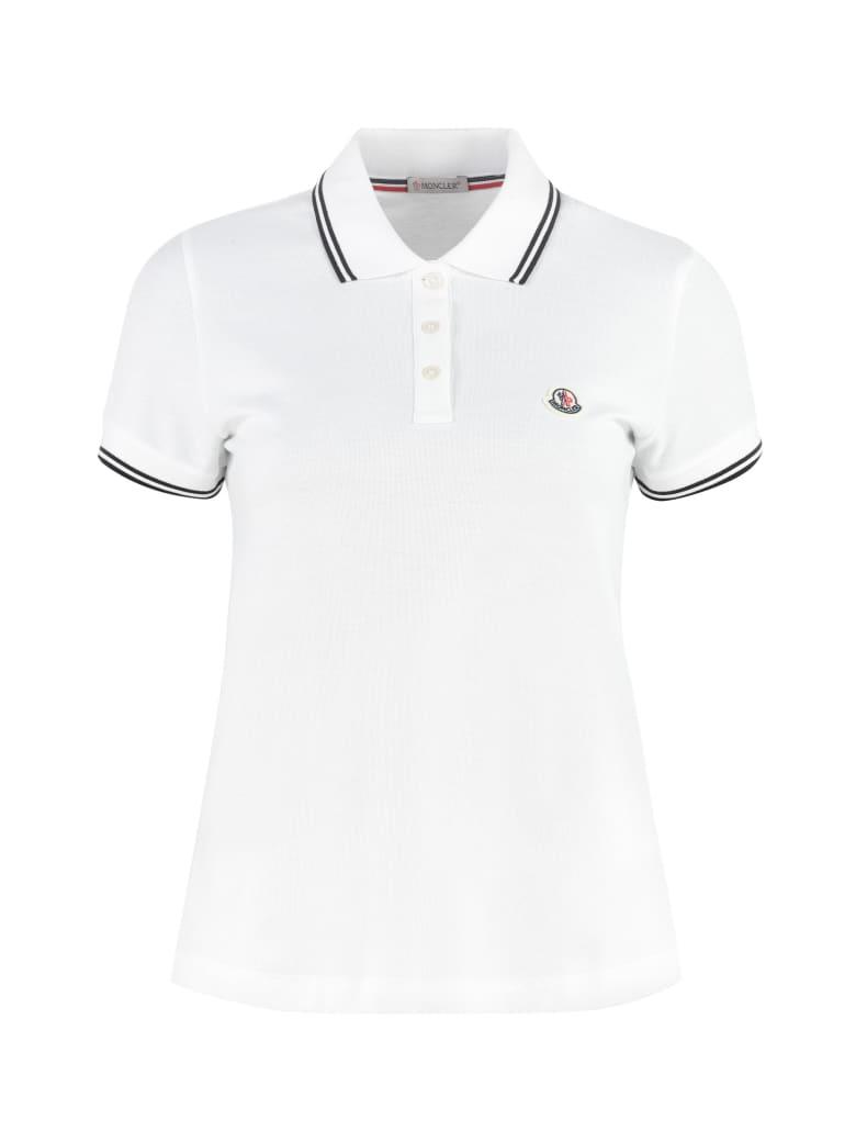 Moncler Cotton-piqué Polo Shirt - White