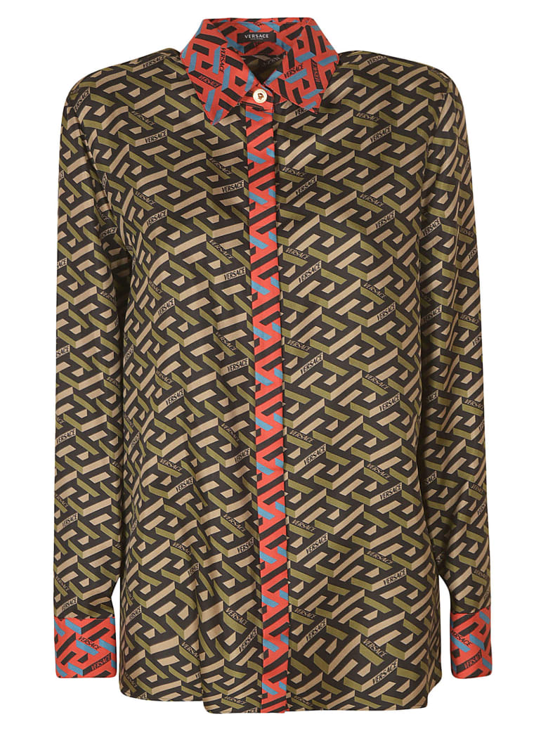 Versace All-over Printed Shirt - Military
