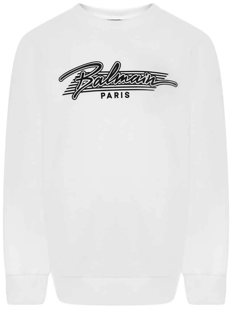 Balmain Paris Kids Sweatshirt - White
