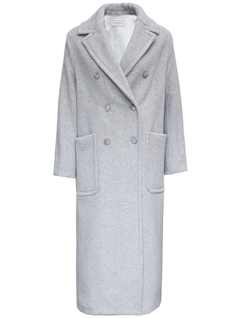 Antonelli Double-breasted Zeffiro Wool Blend  Coat - Grey