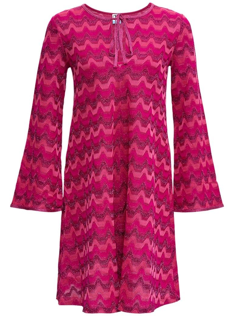M Missoni Pink Cotton Blend Dress - Fuxia
