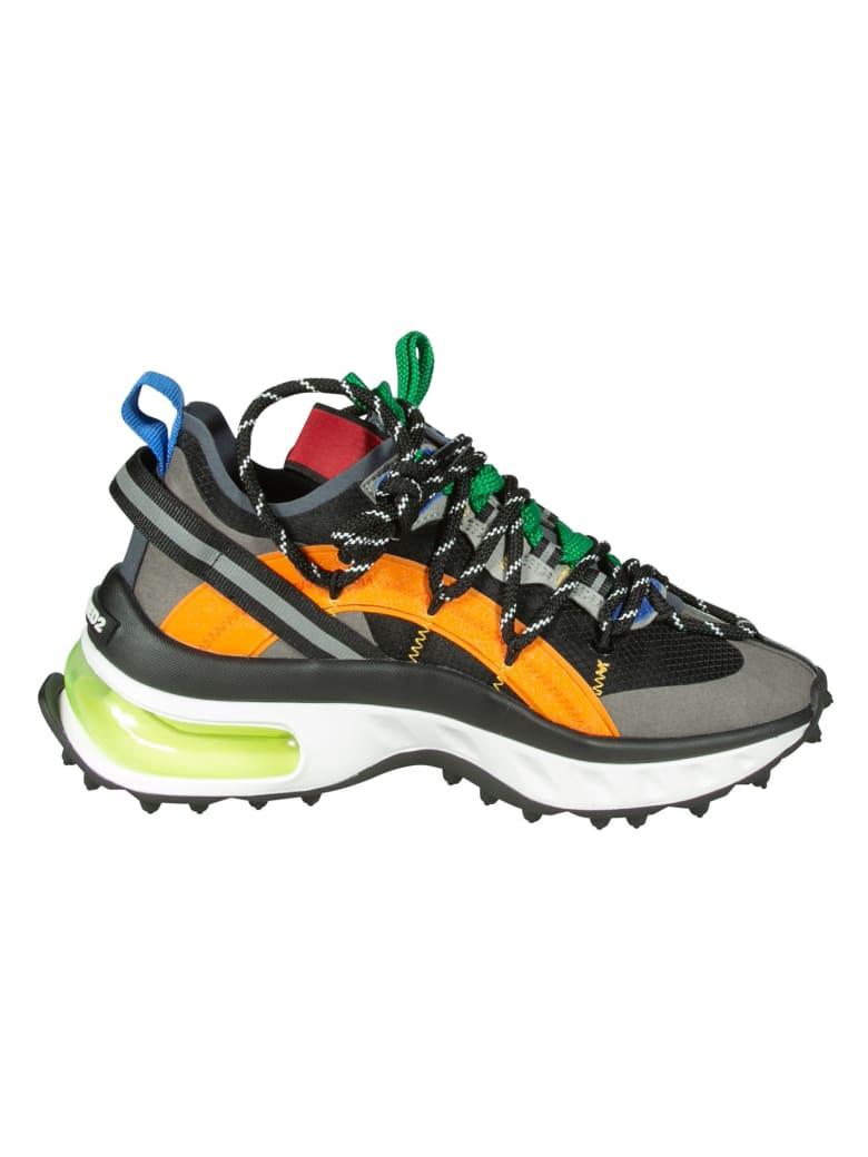 Dsquared2 Bubble Sneakers - Black/Orange/Grey