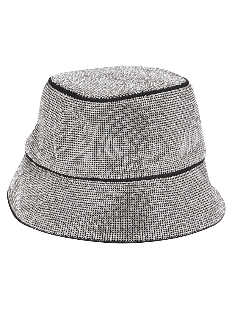 Kara Silevr-tone Bucket Hat - White