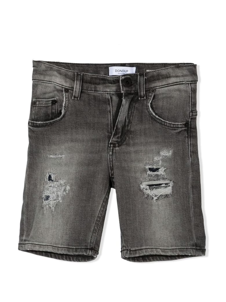 Dondup Grey Cotton Shorts - Grigio