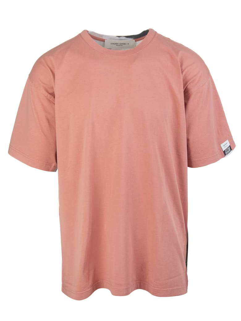 Golden Goose Man Pink Blooms For A Different Future Over Artu' T-shirt