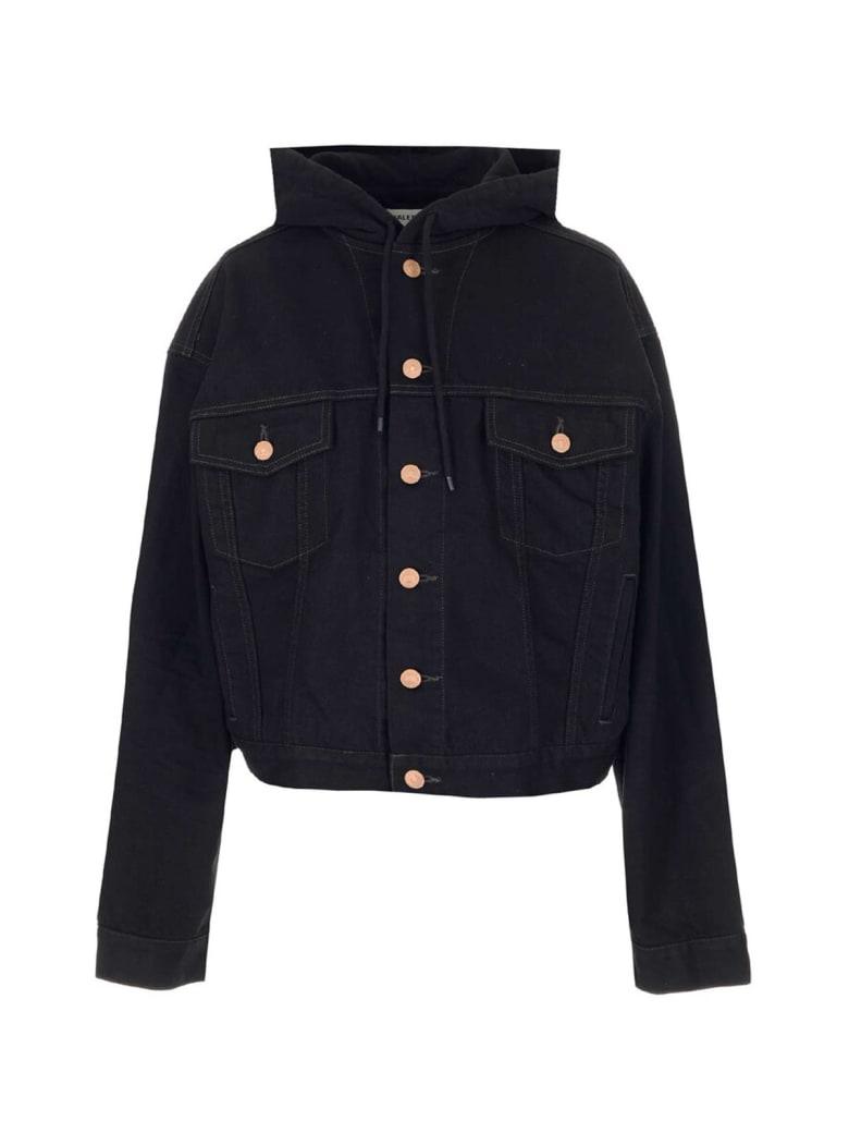 Balenciaga Hooded Jacket - Petrol Noir