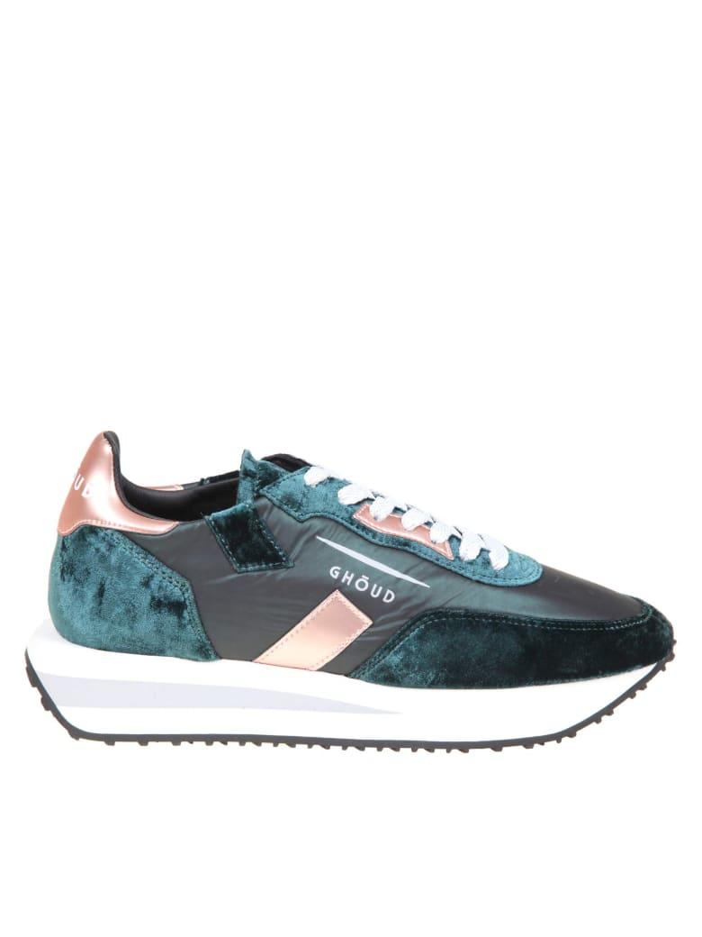 GHOUD Rush Sneakers In Nylon And Velvet - Green