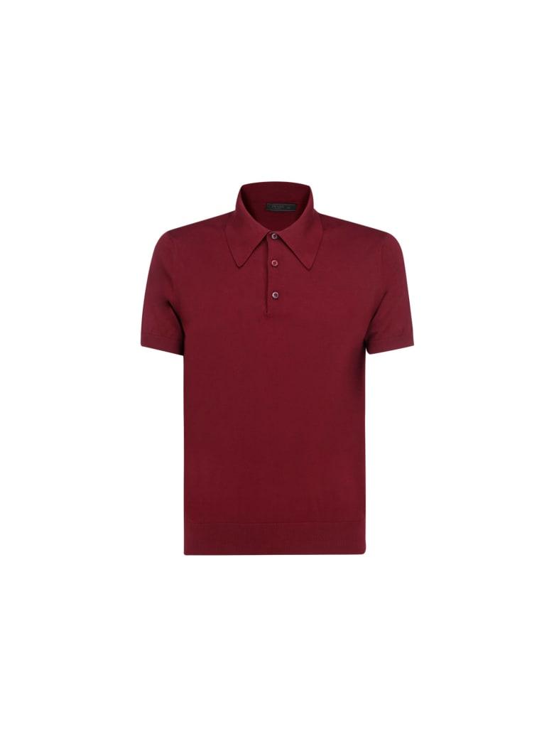 Prada Polo Shirt - Bordeaux