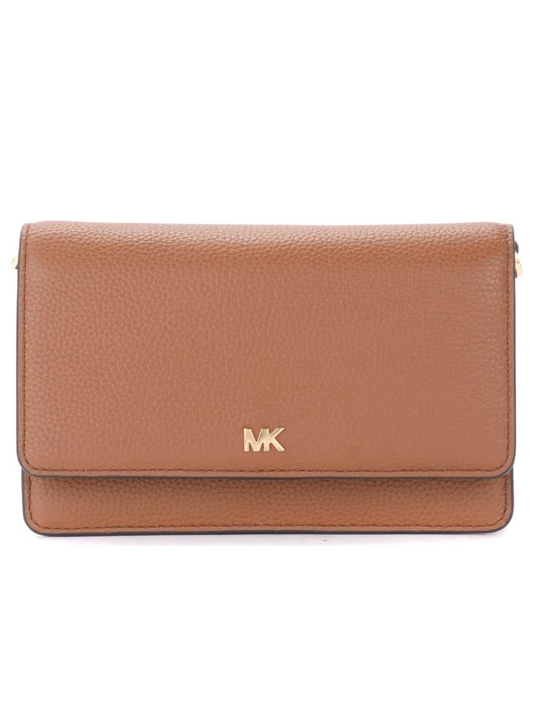 Michael Kors Mercer Leather Pochette - MARRONE