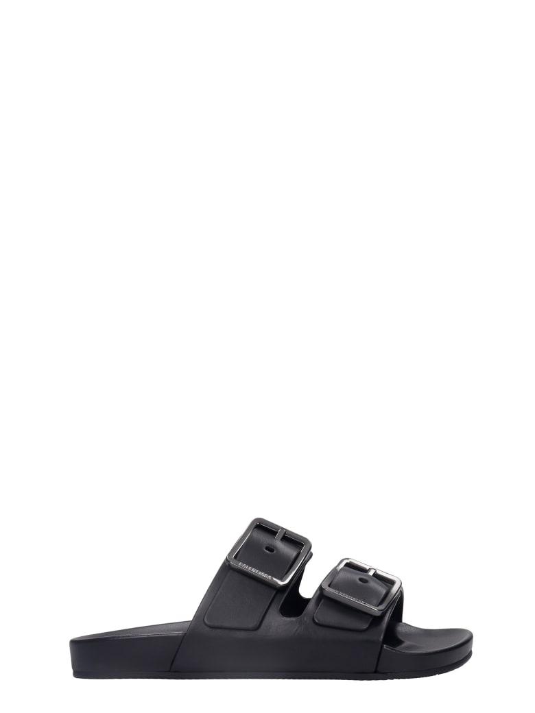 Balenciaga Mallorca  Flats In Black Leather - black