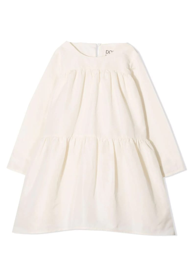 Douuod Dress With Ruches - Beige