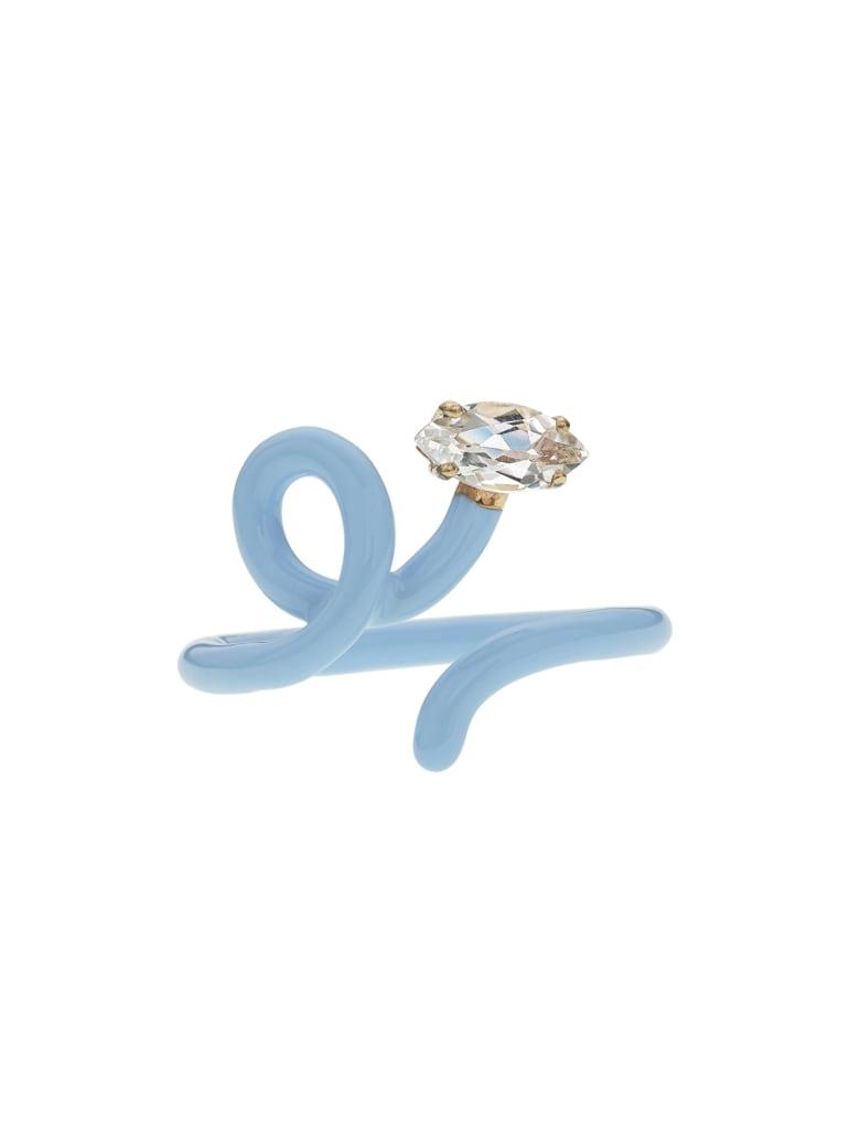 Bea Bongiasca Baby Vine Ring Tendril Rock Crystal - CELESTE (Light blue)