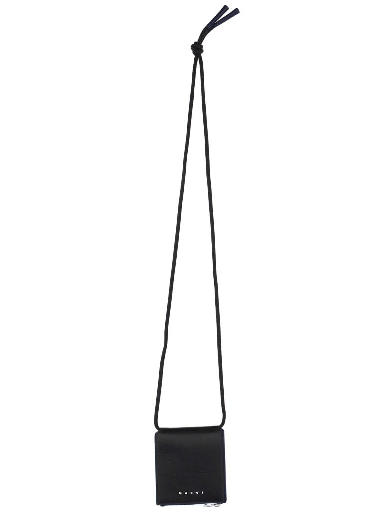 Marni Shoulder Strap Wallet - Black
