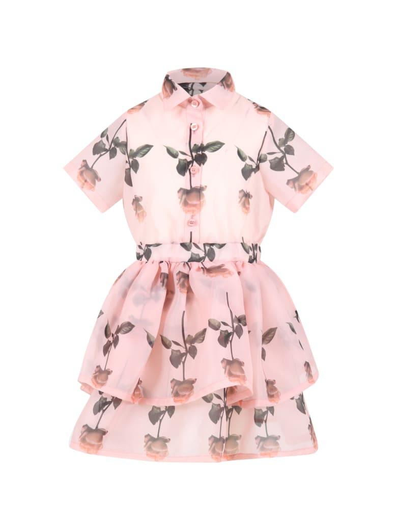 Caroline Bosmans Pink Dress For Girl With Roses - Pink