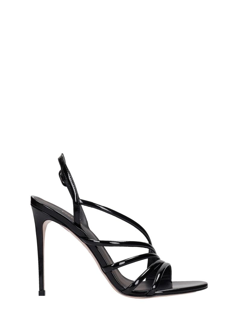 Le Silla Scarlet Sandals In Black Patent Leather - black