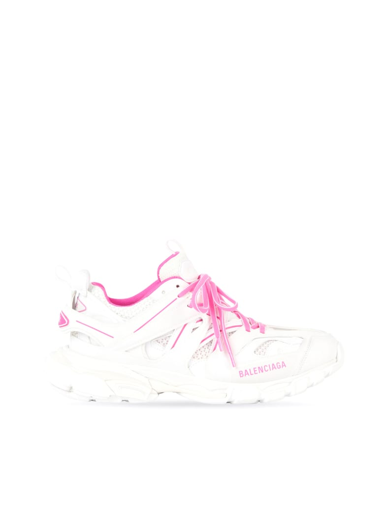 Balenciaga Track Sneakers - White Fluo Pink