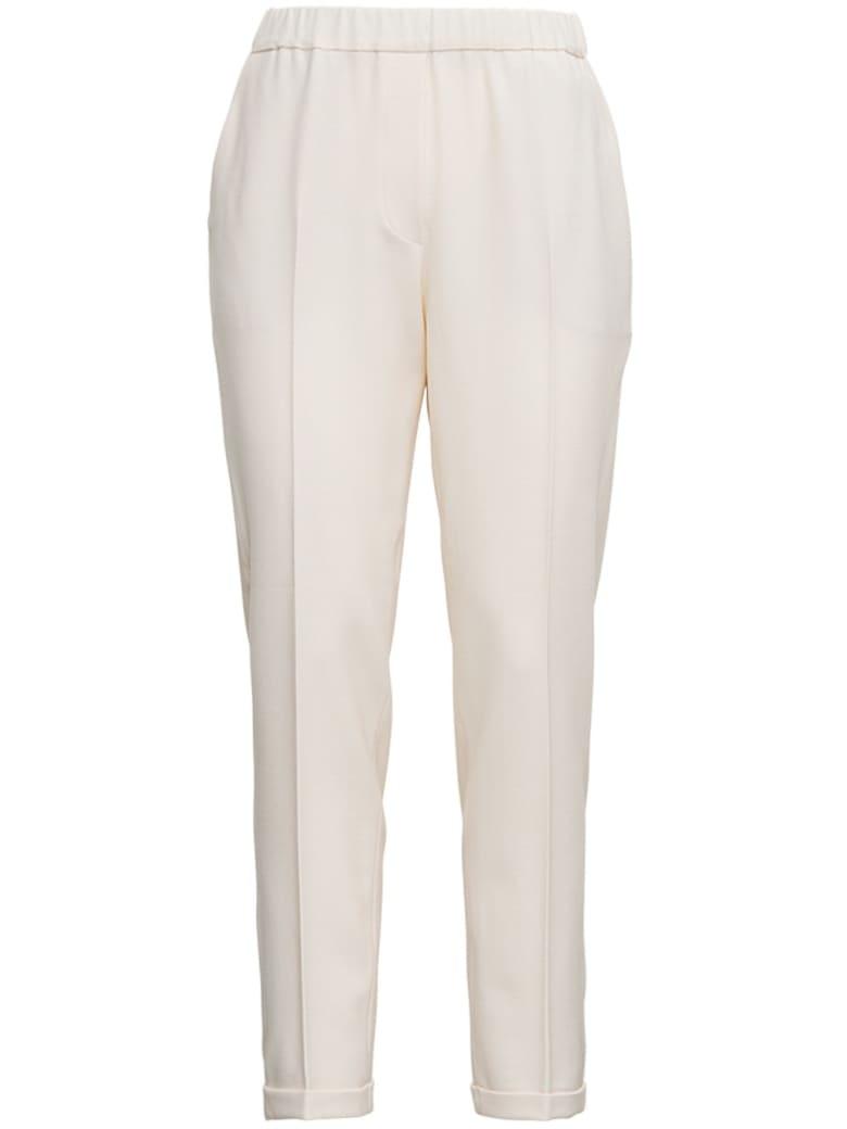 Antonelli Rosalba Wool Blend Trousers - White