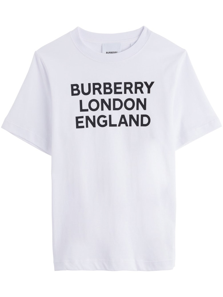 Burberry White Jersey Tee With Logo - White