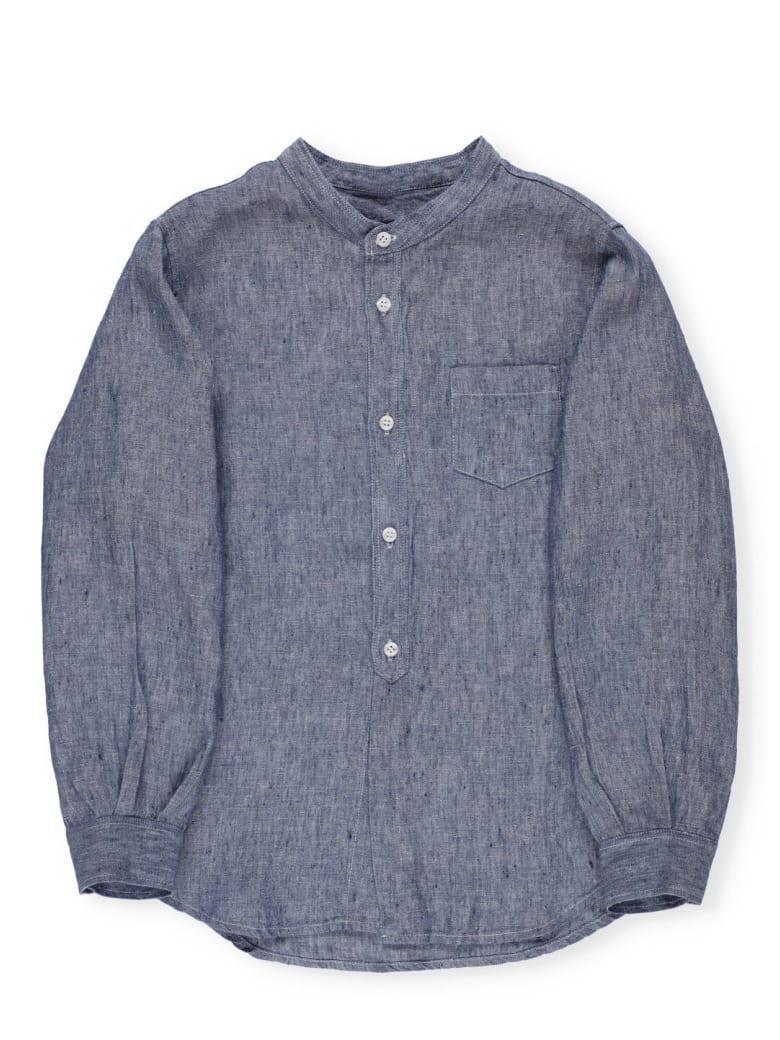 Il Gufo Linen Shirt - BLU UNITO