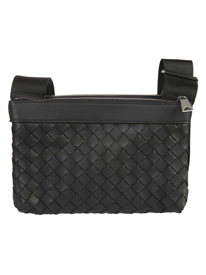 Bottega Veneta Weaved Detail Shoulder Bag - Black